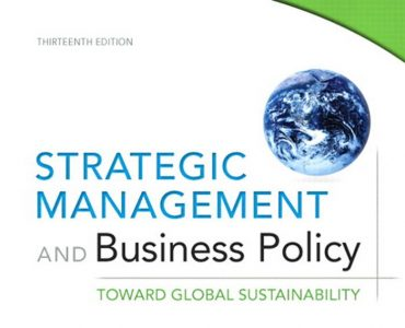 Strategic Management and Business Policy _Toward global sustainability