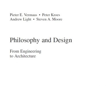 Philosophy and Design_ From Engineering to Architecture